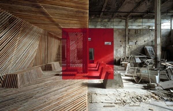 New Anamorphoses by Georges Rousse – Fubiz™ #architecture #art