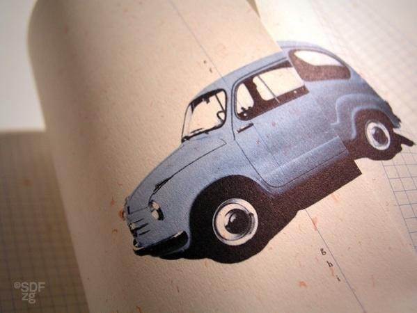 ArjoWiggins Brand Promotion #old #design #graphic #vintage #car