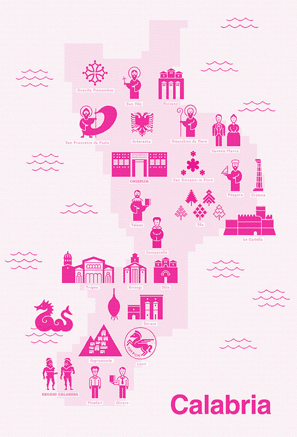 Territorial Alphabets Italy #design #italy #icons #map