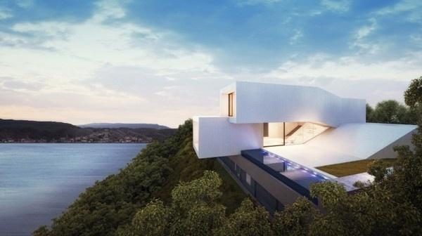 Waterfront House Architecture – Fubiz™ #architecture #house #white
