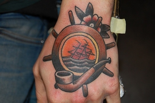 DSC_0007 | Flickr - Photo Sharing! #tattoo #ship #pipe #flower #sunset
