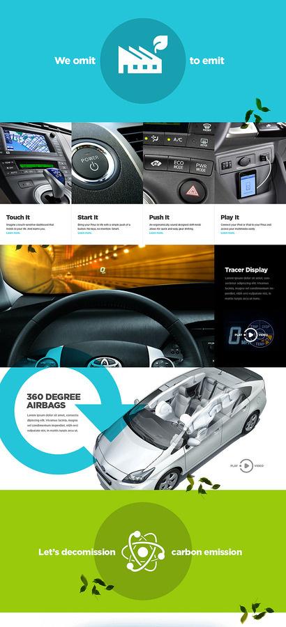 Toyota Shape Layer Portfolio of Bryan Le #website #web #auto