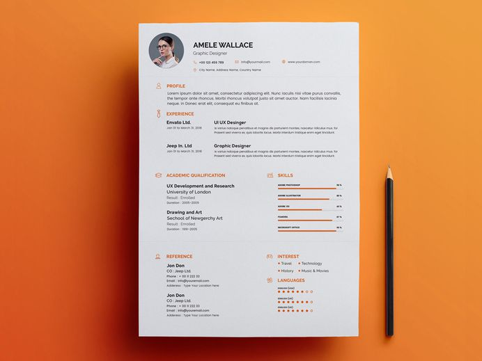 Free Smart Resume Template with Matching Cover Letter