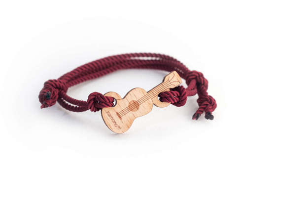 #Ukulele Kemono #bracelet #guitar - wood edition - #wood - #music #kemono #jewel #present