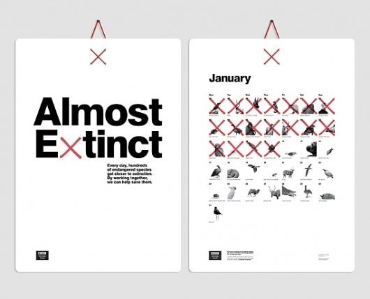 Creative Review - CR Annual: graphics picks #extinction #calendar #design #typography