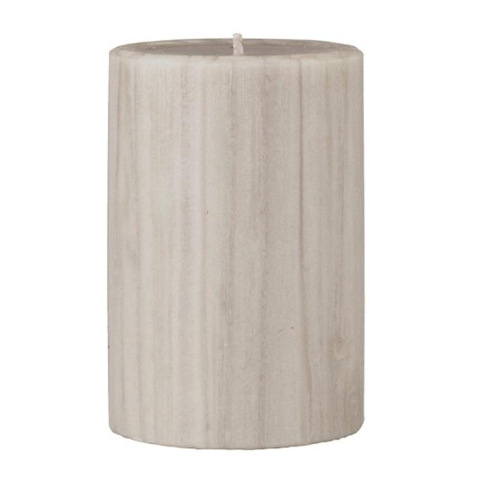 Marbled Pillar Creamy Vanilla & Coconut Scented Candle, 10 x 7 cm