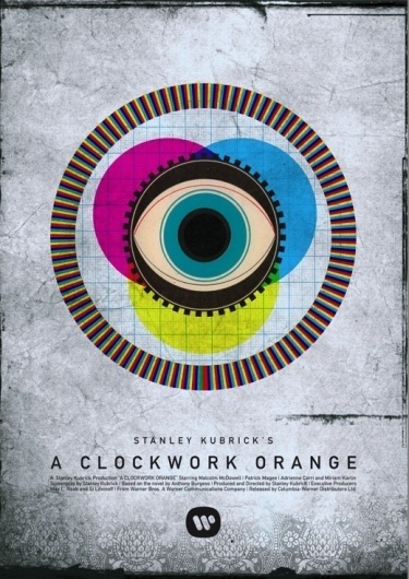 Hitchcock and Kubrick movie posters reimagined Clockwork – #design #poster #film