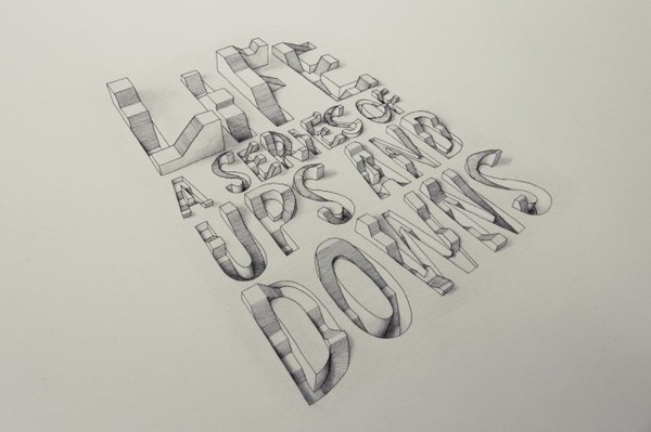 3D Typography by Lex Wilson – Fubiz™ #illustration #typography