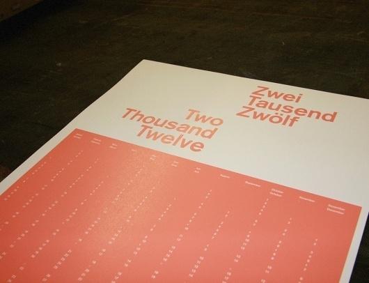 Observatory Design Studio #minimalist #calender #typography
