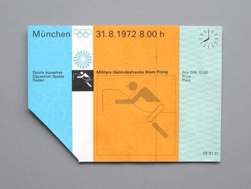 Otl Aicher 1972 Munich Olympics - Tickets #otl #print #design #graphic #1972 #aicher #ticket #olympics #typography