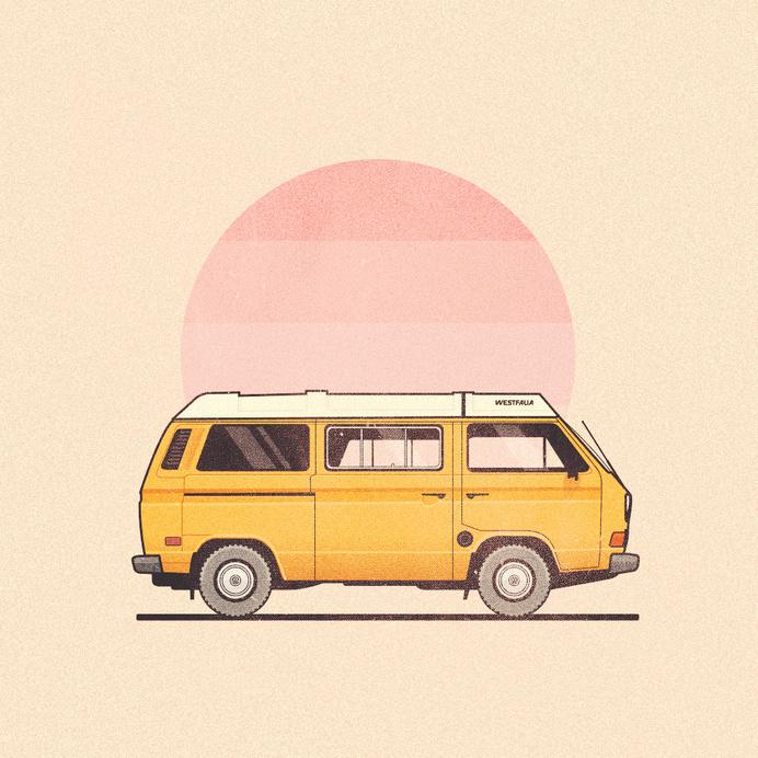 westfalia.jpg #sun #vanagon #van #retro #texture #simple #illustration #westfalia #vw