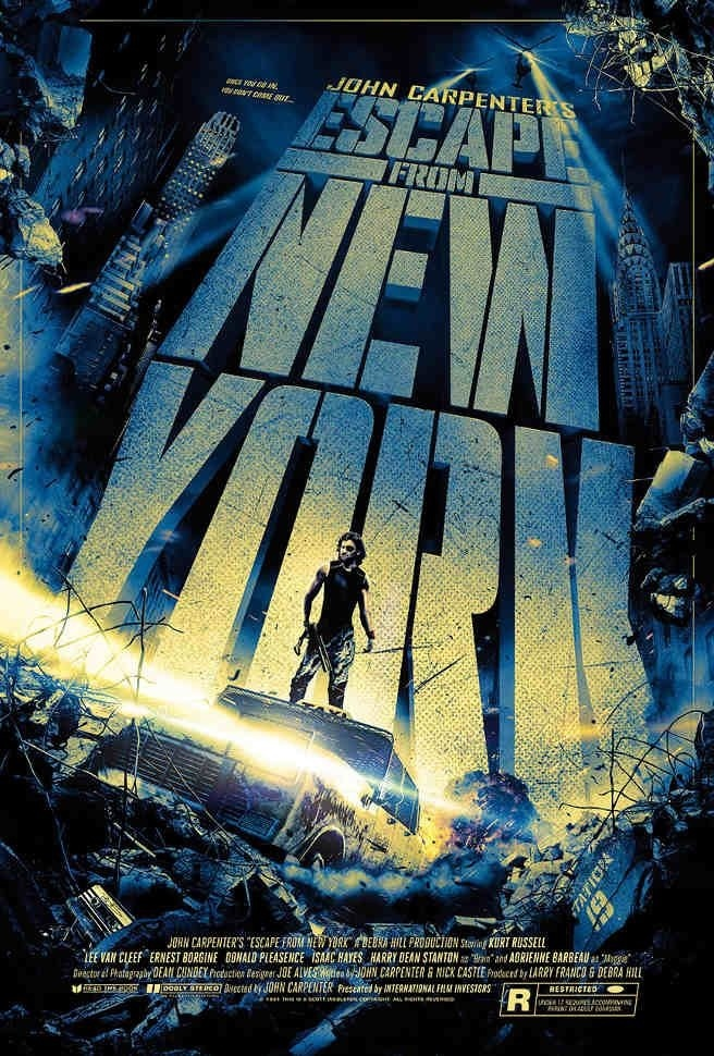 movie poster escape from new york
