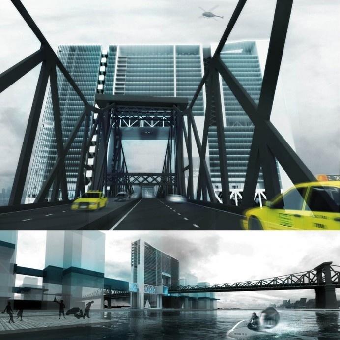 Level Rise City Roosevelt Island New York: a metropolitan laboratory for flooding future. #architecture