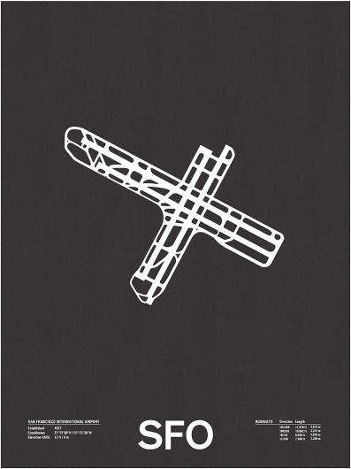 Nomo Design Shop — SFO: San Francisco International Screenprint #runway #design #screenprint #san #poster #francisco #airport