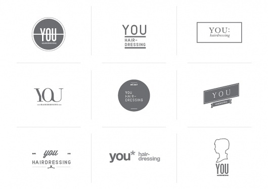 logomark, Identity, Hairdressing, Grey, Simple #you #design #clean #hair #marque #logo #hairdressing