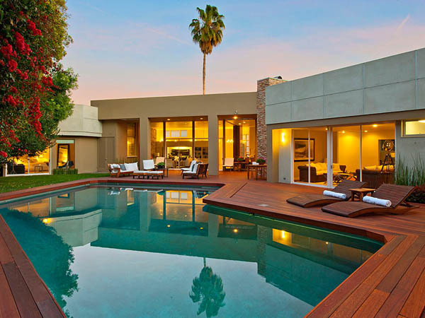1705 Angelo Drive in Beverly Hills by William Stephenson (3) #pool #architecture #house