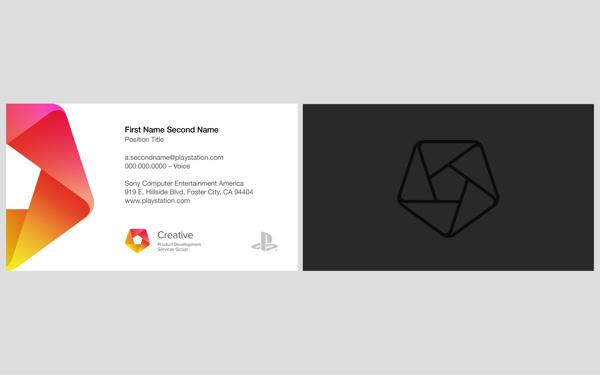Sony PDSG Branding #business #card #sony #branding