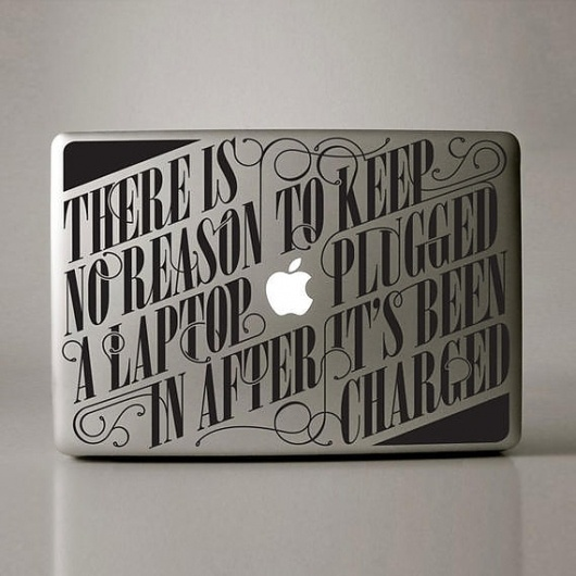Creative Review - Can you kick it? #lettering #apple #typography #vinyl #type #sticker #mac