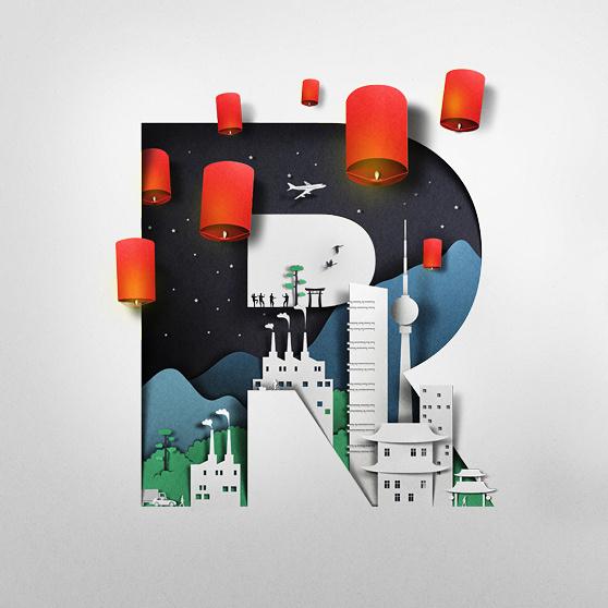 RMB on Behance #letter #illustration #type