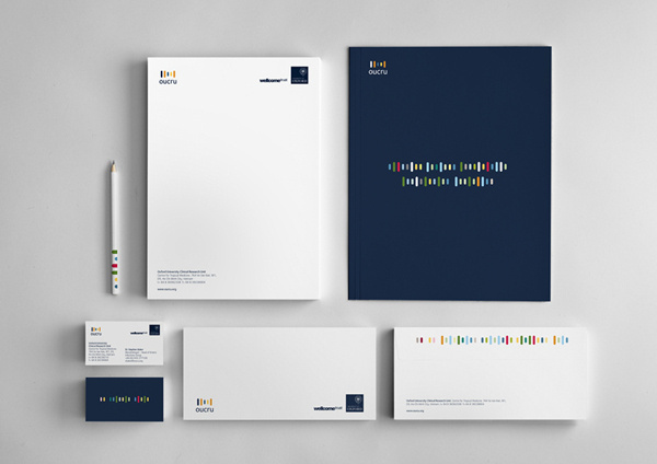 Oxford University Clinical Research Unit on Behance #brand #system