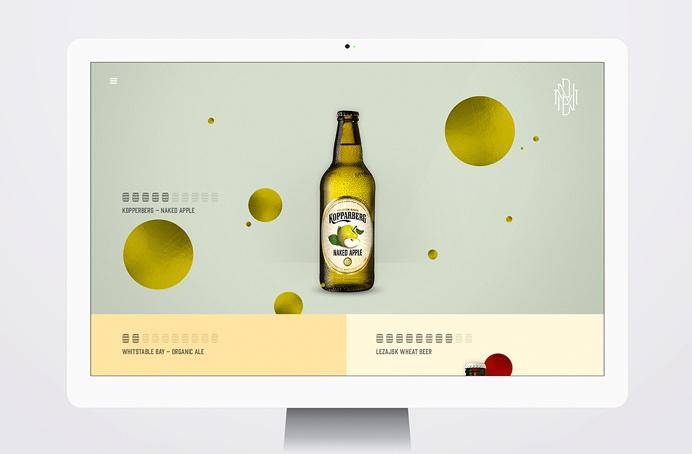beer, website, design, ux, ui, circles