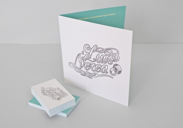 Luis & Nerea #lettering #boda #card #voltio #wedding