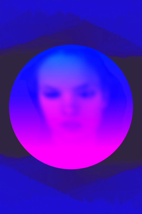 #face #Rose #Blue #Woman #Nikoloz Bionika