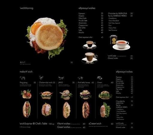 Design Work Life » cataloging inspiration daily #menu #food #black