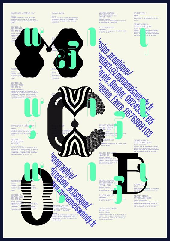 PQCSL/ Pourvu que ce soit lisible #letter #poster #typography