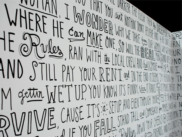 2 pac mural #drawn #lettering #hand #typography