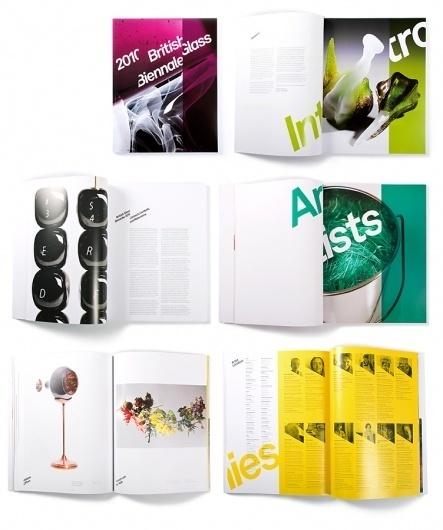 Mytton Williams Brand & Design - British Glass Biennale #booklet #publication