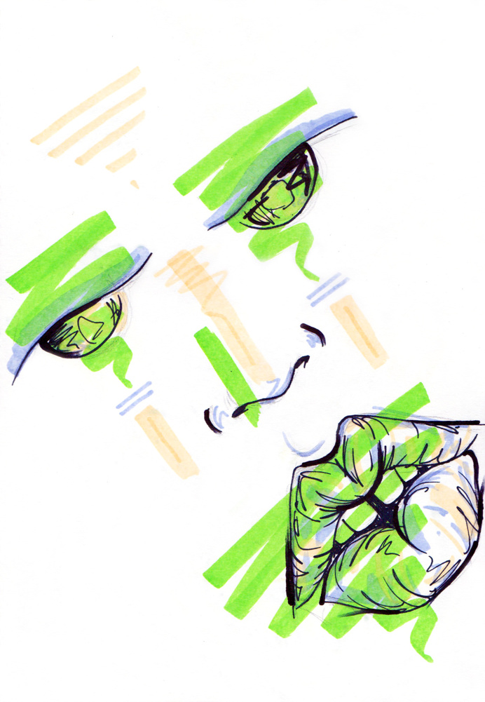 #22 / hazed / 200414 by Chiamaka Ojechi #illustration #pastel #lips #markers #minimal