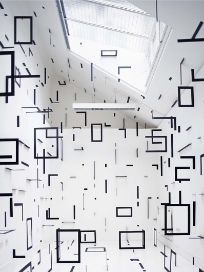 Esther Stocker | iGNANT #white #black #square #architecture #and #room