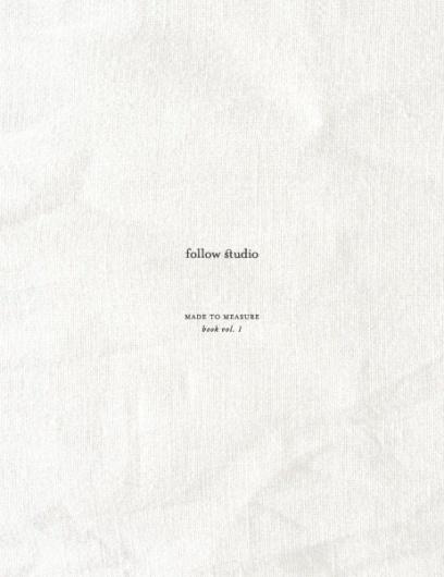 follow studio: Made to Measure style book vol.1 #white #book #linen