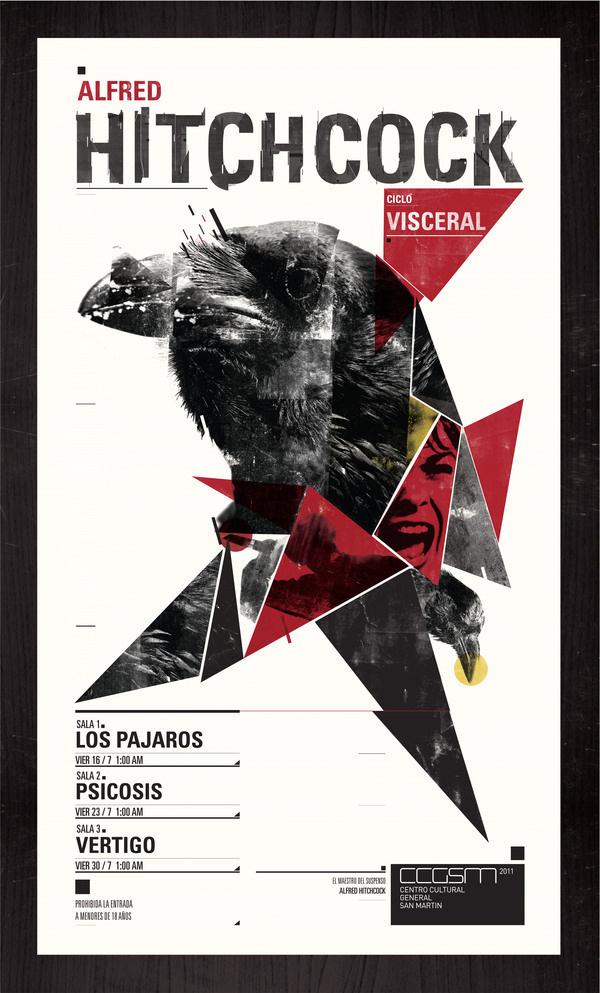 Ciclo Visceral / Alfred Hitchcock | Sebastián Barrena #alfred #design #graphic #hitchcock #poster