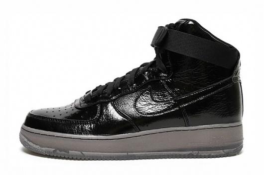 Nike Air Force 1 Hi Premium Black/Black | Hypebeast #air #force #black #patent #nike #leather #1