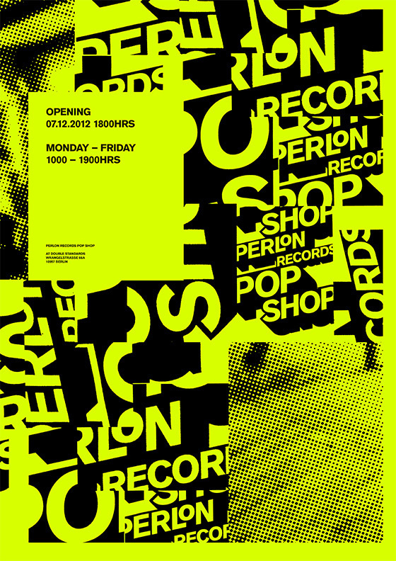 Perlon Poster by DOUBLESTANDARDS.NET #print #design #graphic #poster #music #typography