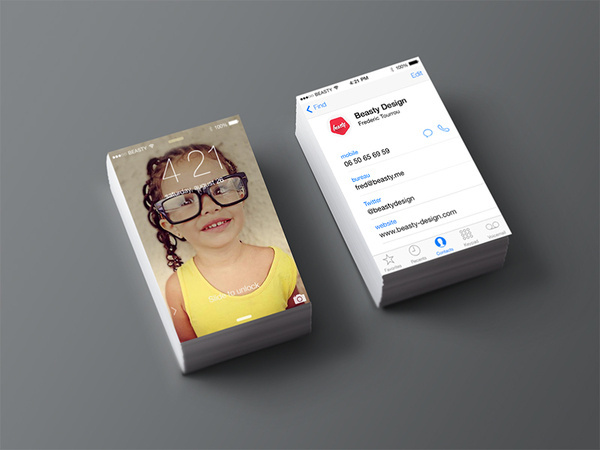 Clever iPhone Business Card by Beasty Design #card #iphone #business