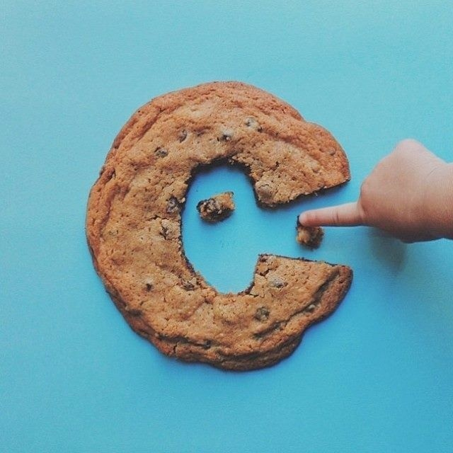 Cookie C #cookie #font #c #typography
