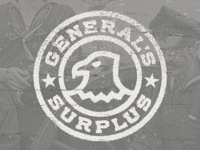Dribbble - The General's Surplus by Alex Rinker #badge #branding #emblem #seal #eagle #logo