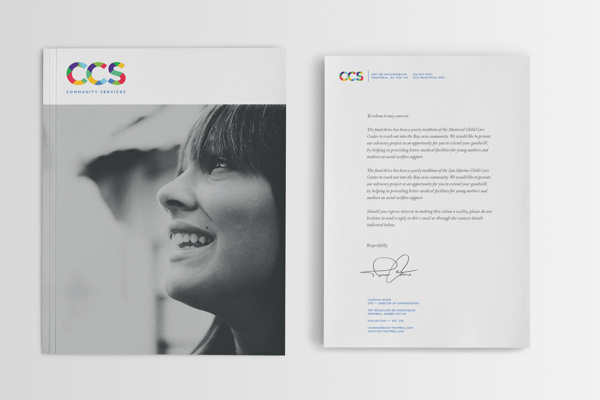 CCS Community Services #branding #color #annual #letter #brand #colorful #identity #report #logo #letterhead