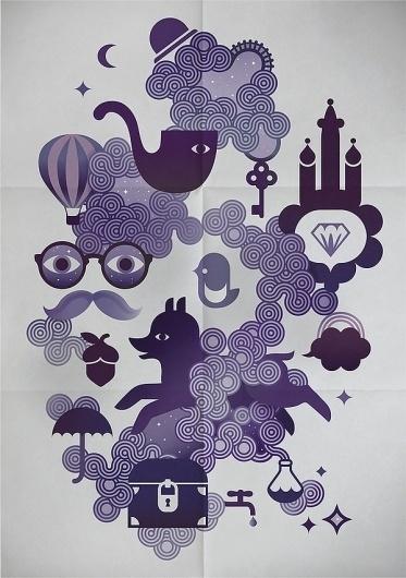 Smoky - Walky #illustration #vector #purple