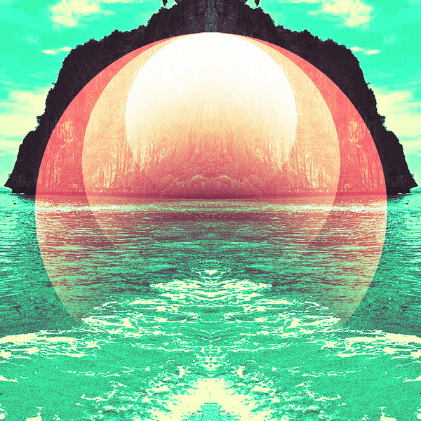 Island by Jebba Design #analog #graphic #retro #shapes #collage #psychedelic