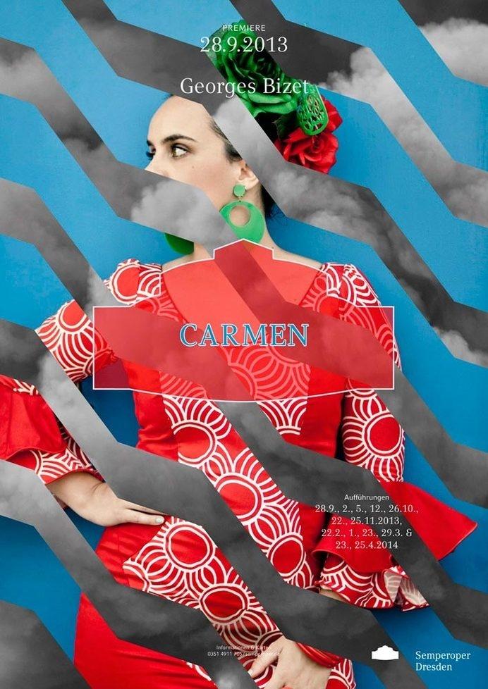 Semperoper Dresden Plakatkampagne 13/14 | Slanted - Typo Weblog und Magazin #zig #carmen #design #graphic #zag #opera #art #poster
