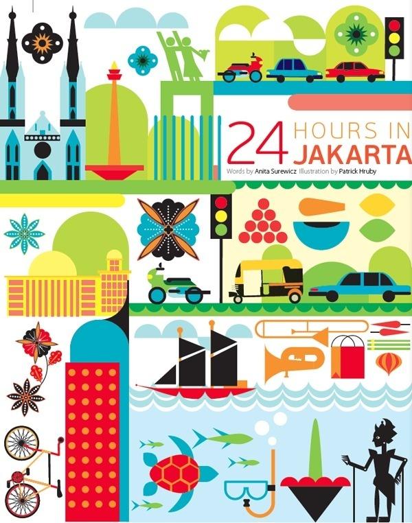 24 hours in Jakarta Indonesia #jakarta #indonesia #illustration #qatar #art #airways
