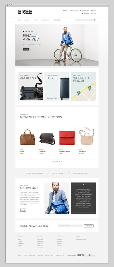 BREE #website #layout #design #web