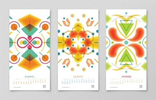 Mouscacho Calendar - FPO: For Print Only #illustration #calendars #geometric