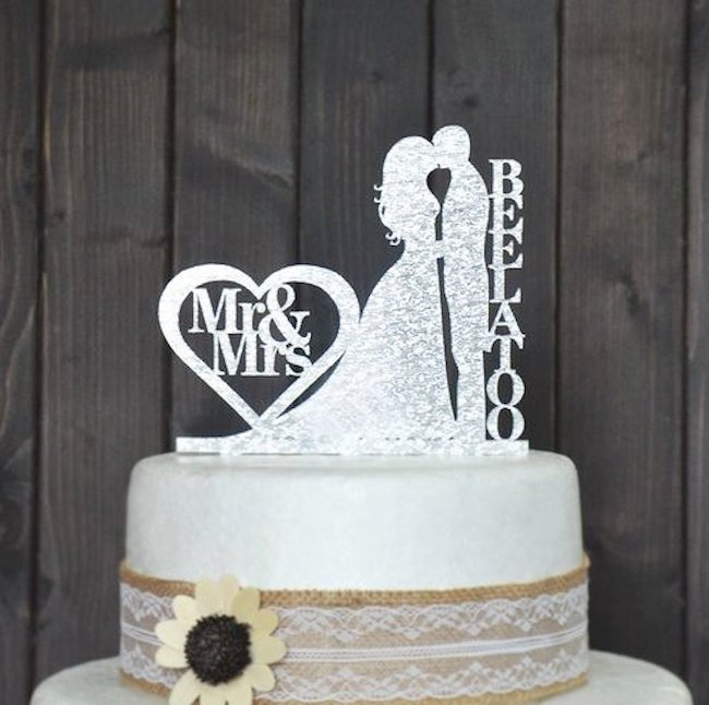 wedding cake topper lovely