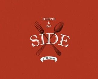 SIDE restaurant logo by shineft #logo #illustration