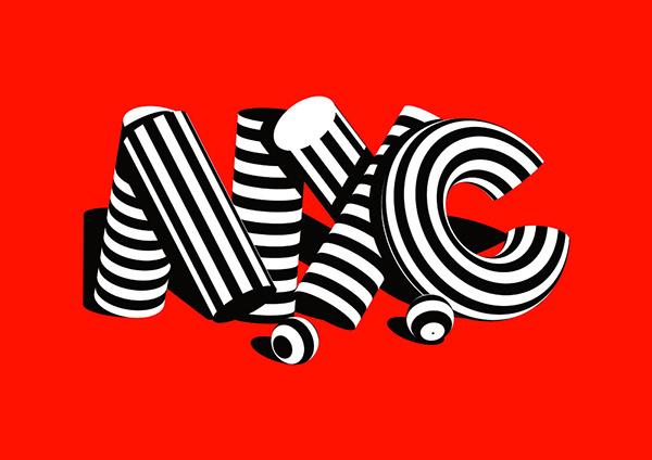 Stripe Type (2) #stripes #singh #nyc #karan #typography